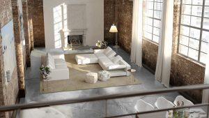 grijze betonlook gietvloer woonkamer