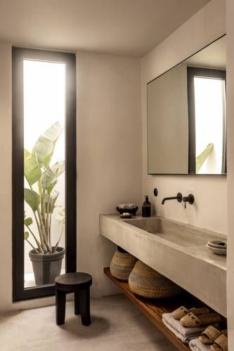 beton cire in de badkamer