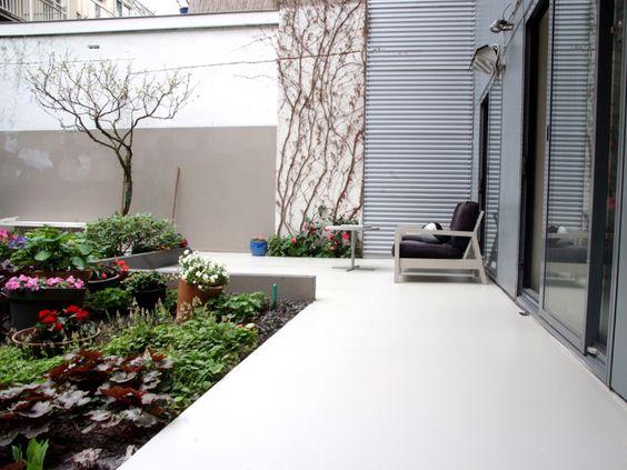Een betonlook gietvloer terras
