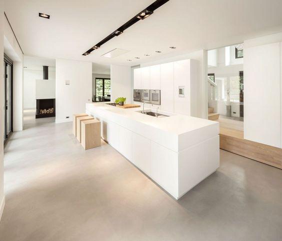 Een gietvloer in de keuken